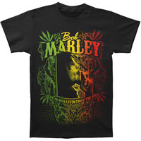 Bob Marley Men's  Kaya Now T-shirt Black Rockabilia