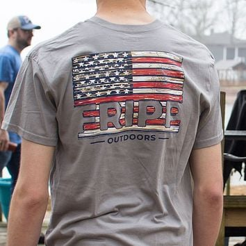 Wood Flag T-Shirt by Fripp Outdoors