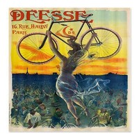 Vintage Paris Fairy Bicycle Shower Curtain> Coastal, Vintage and Urban Chic Shower Curtains> Rebecca Korpita Coastal Design