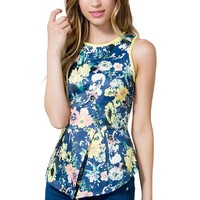 Floral Origami Top