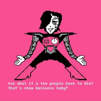 Undertale Mettaton 'That's Show Buisness Baby'  T-Shirt