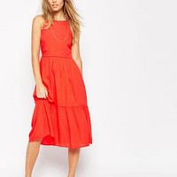ASOS | ASOS Tiered Midi Sundress at ASOS