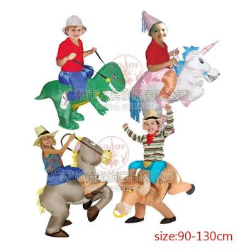 Inflatable Bull Riding costume children Fancy Dress disfraces Halloween costumes for kids party cloth