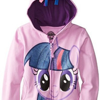 My Little Pony Little Girls' Twilight Sparkle Hoodie, Purple/Multi, 4