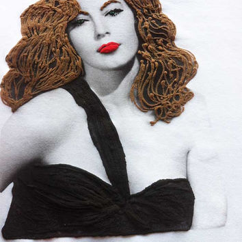 Ava Gardner T-shirt Shirt Top Painting 3d  Tee 50s Old Movies Timeless  Classic Beauty