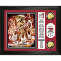 Miami Heat 2013 NBA Champions inBannerin Gold Coin Photo Mint