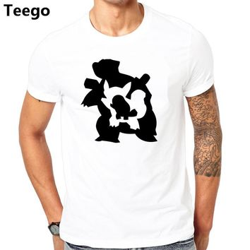 T-Shirt Squitle Evolution Tee MEN'S Nintendo Wartortle Blastoise man tee shirt luxury brand tops cotton teesKawaii Pokemon go  AT_89_9