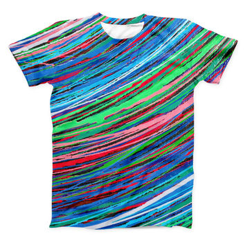 The Colorful Strokes ink-Fuzed Unisex All Over Full-Printed Fitted Tee Shirt