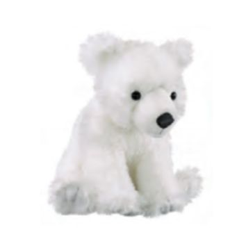 "13"" Polar Bear Cub Stuffed Animals Floppy Arctic Conservation Collection"