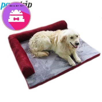 pawstrip Pet Dog Sofa Bed Winter Fleece Cat Sleeping Bed Detachable Wash Dog Beds For Large Dogs