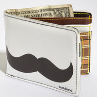 Toddland Mustache Wallet | Light Grey Mustache Wallet