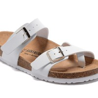 Birkenstock Mayari Sandals Couples Slippers - Patent White