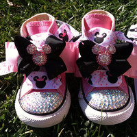 Minnie Mouse Inspired Shoes - Minnie Mouse Birthday - PRINCESS MINNIE -  Swarovski Crystals - Sparkle 33adc62f4a6