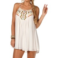 Promo-white Embroidered Tunic