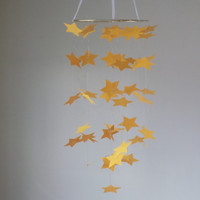 Yellow Star paper mobile. READY TO SHIP! Baby Nursery mobile, Crib mobile. oy/Girl/Teen/Tween mobile. Birthday,Dorm,all occasion