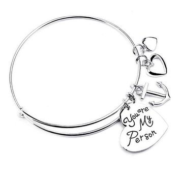 Charm Bangle : You are my person