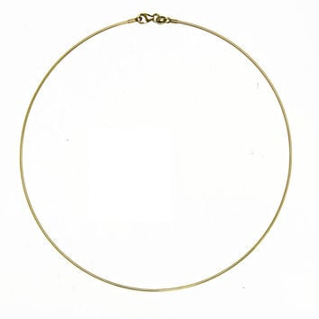 18 Karat Yellow Gold 1mm Omega Choker