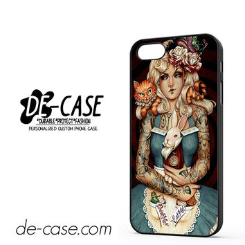 Gothic Alice In Wonderland Tattoos DEAL-4791 Apple Phonecase Cover For Iphone 5 / Iphone 5S