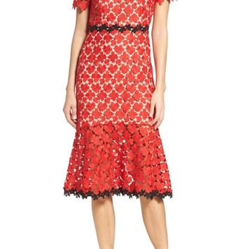 Jill Jill Stuart Lace Midi Dress | Nordstrom