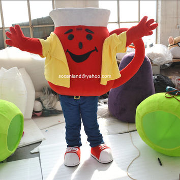 Christmas Pitcher Man Mascot Costume,Cosplay Costume,Adults Costumes,Clothing,Xmas Costumes,Party Costumes,Xmas Cosplay,Oh Yeah Man Cosplay
