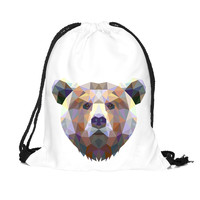 Bear Drawstring Backpack Cute String Bags Animal Cinch Bags Cheap Drawstring Bags