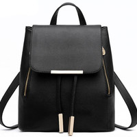 Black Tassel Travel Bag Backpack