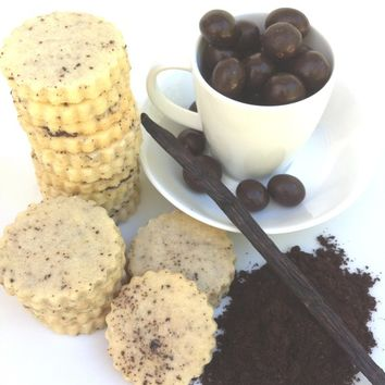 READY TO SHIP Espresso Shortbread Cookies (1/2 pound)