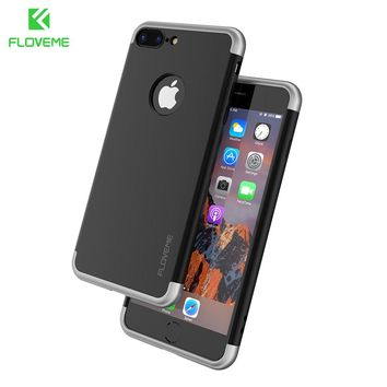 FLOVEME 3 in 1 Hybrid Phone Case For iPhone 6 6S 7 Plus Ultra Thin Cover Hard Plastic Armor Protective For Apple iPhone 7 6 Plus