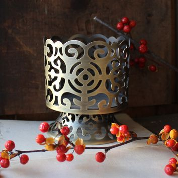 Metal Scroll Candle Holder