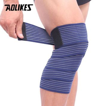 AOLIKES 1PCS Elastic Bandage Tape Sport Knee Support Strap Shin Guard Compression Protector For Ankle Leg Wrist Wrap