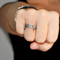 """Valar Morghulis Ring in Silver or Gold, Game of Thrones """" inspired """"Houses of Westeros"""" Jewelry"""