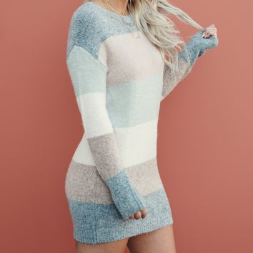 In Your Embrace Striped Tunic (Pastel)