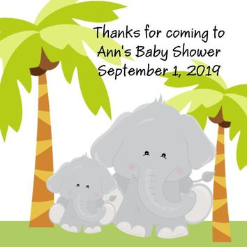Safari Animal Baby Shower Favor Tags Many Optioins To Choose From