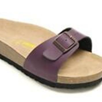 Birkenstock Madrid Sandals Artificial Leather Purple - Ready Stock