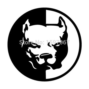"4.5""x4.5"" Pit Bull Dog Tool Box Sticker For Car Window Door Laptop Kayak Puppy Vinyl Decal 8 Colors"