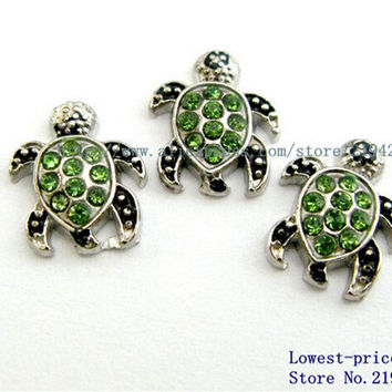 10PCS Sea turtle Floating locket charms DIY Accessory Fit for Locket Free shipping !FC631