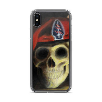Military Skull iPhone Case by Vincent Monaco