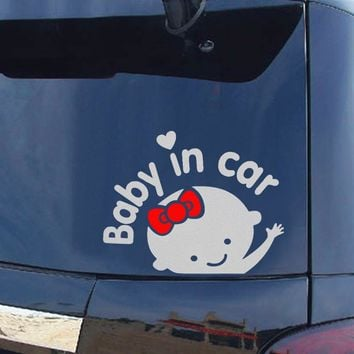 Decoration Silver On Rear Windshield Reflective Car Styling Auto Motorcycle Sticker Baby in Car Car Stickers and Decals