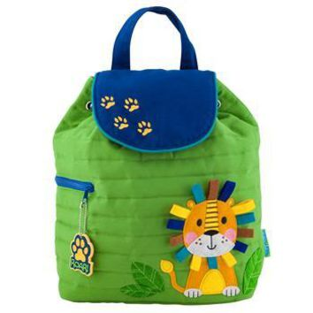 Personalized Quilted Stephen Joseph Backpack Lion