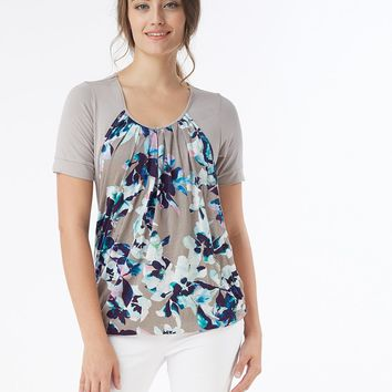 Wisteria Slouchy Pleated Nursing Top