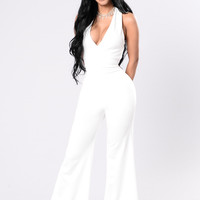 Get Lost Jumpsuit - Off White