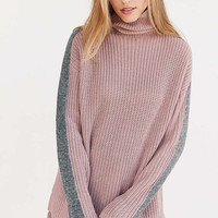 Silence + Noise Racer Stripe Turtleneck Sweater - Urban Outfitters
