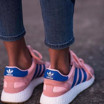 adidas iniki runner boost pink blue fashion trending running sports shoes sneakers