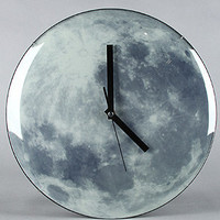 The Moon Wall Clock (Glow in the Dark)