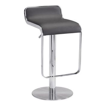 Equino Stool Espresso Chromed Stainless Steel