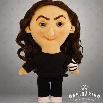 Selfie doll Ross Noble-  custom doll, caracter doll, rag doll, art doll, personalized doll
