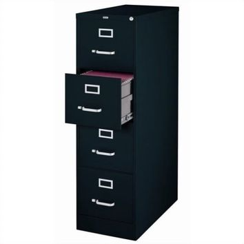 Hirsh 22-inch Deep 4-Drawer, Letter-Size Vertical File Cabinet, Black - Walmart.com