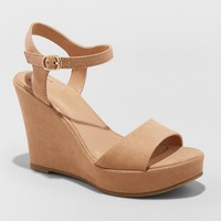 Women's Jazmine Quarter Strap Wedge Pumps - A New Day™