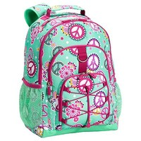 Gear-Up Mint Peace Paisley Backpack