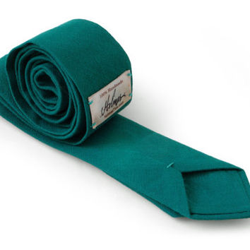 Dark Teal Tie / Men's skinny tie / Wedding Ties / Necktie for Men FREE GIFT